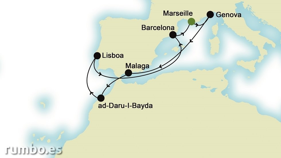MEDITERRÁNEO desde Marsella