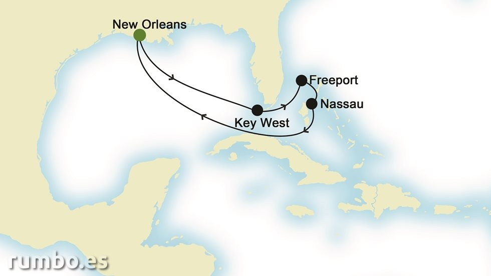 BAHAMAS desde Nueva Orleans