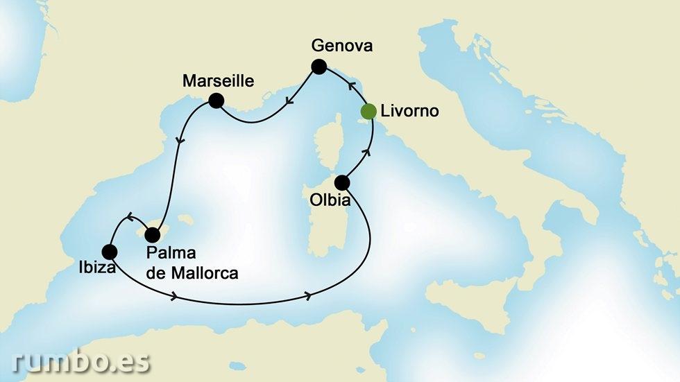 MEDITERRÁNEO OCCIDENTAL desde Livorno