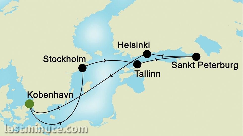 CAPITALES DE LA BALTIQUE au départ de Copenhague