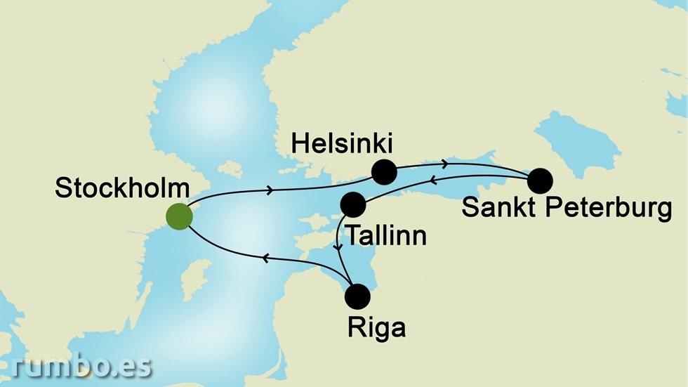 CAPITALES BÁLTICAS desde Estocolmo