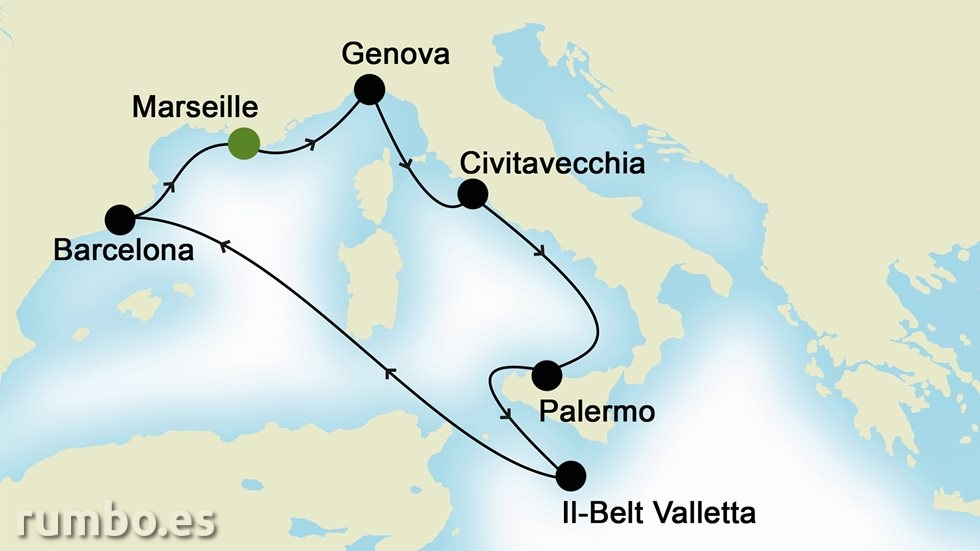 MEDITERRÁNEO OCCIDENTAL desde Marsella