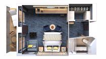 Suite familiare Concierge con balcone