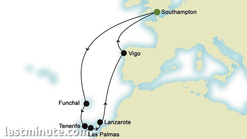 ATLANTIQUE au départ de Southampton