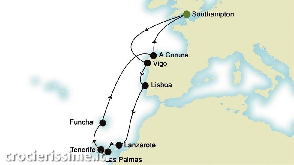 ISOLE CANARIE da Southampton