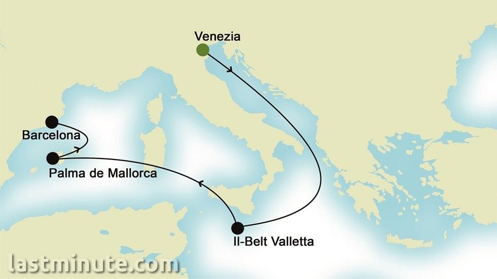 MÉDITERRANÉE au départ de Venise