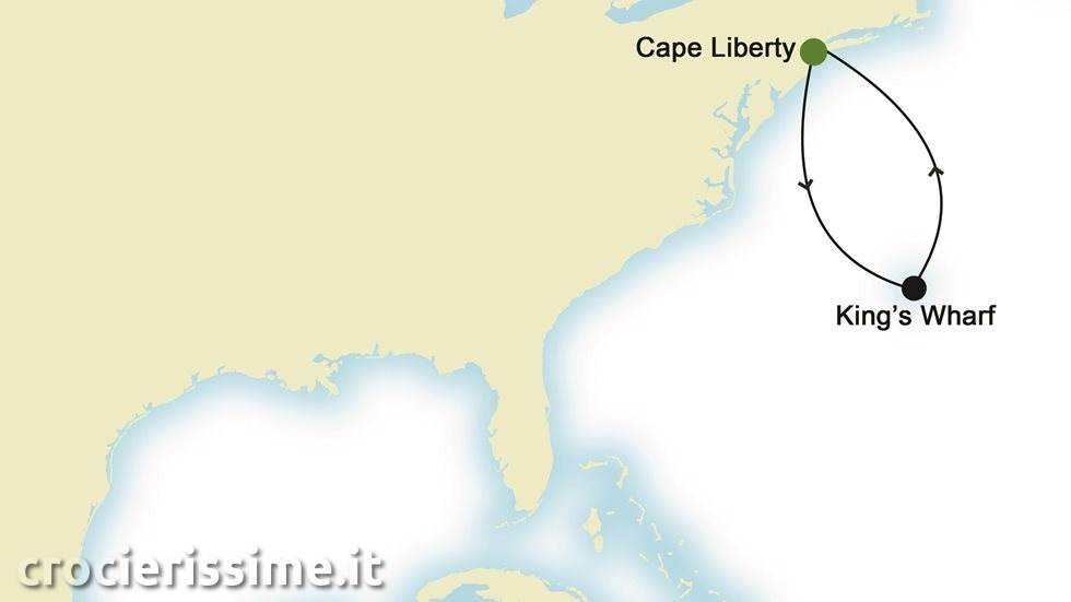NORD AMERICA da Cape Liberty, New Jersey