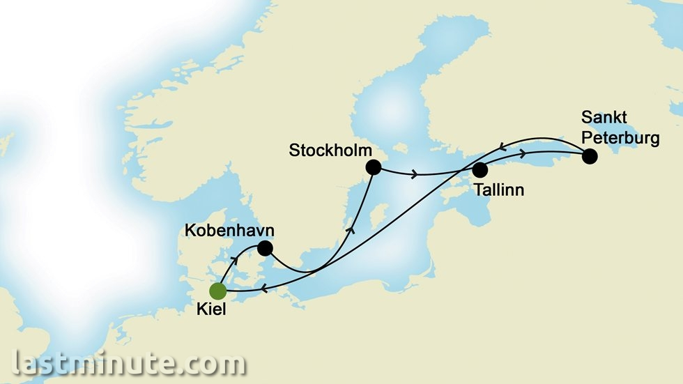 CAPITALES DE LA BALTIQUE au départ de Kiel