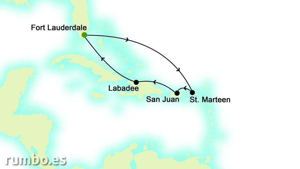 ISLAS DEL  CARIBE desde Fort Lauderdale
