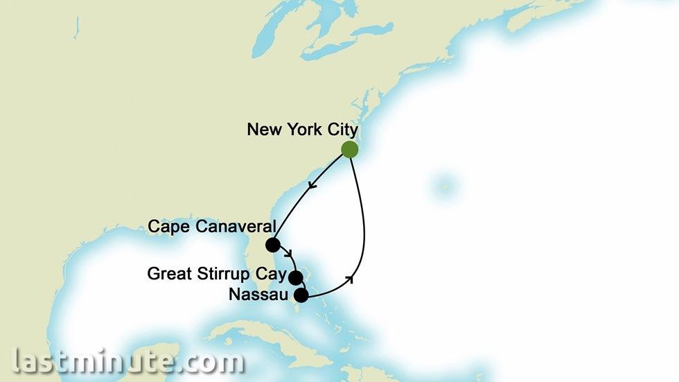 BAHAMAS au départ de New York